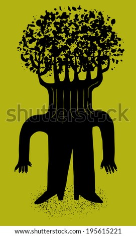 Tree man - stock vector