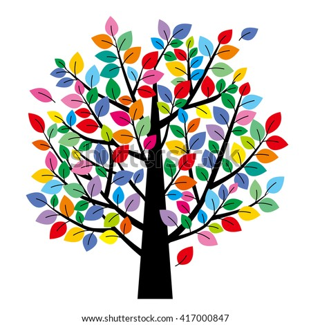Image result for colorful tree