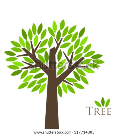 Tree of life illustration - stock vector
