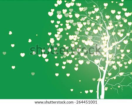 Tree of love - stock vector