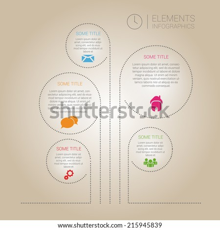 Tree of web design bubbles. Vector design template. Infographics