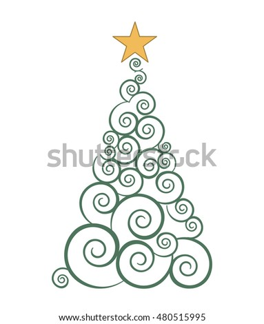 tree pine christmas icon vector illustration design