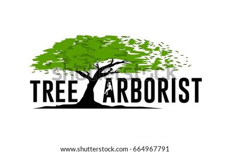 tree service logo template stock vector 2018 664967791 shutterstock rh shutterstock com wright tree service logo tree service logo