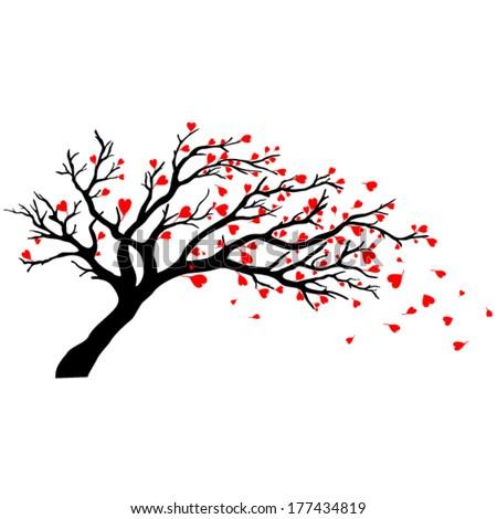Tree silhouettes. Vector illustration. - stock vector
