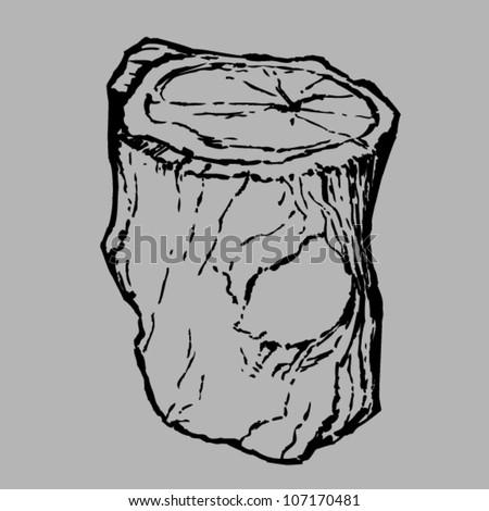 Tree stump - stock vector