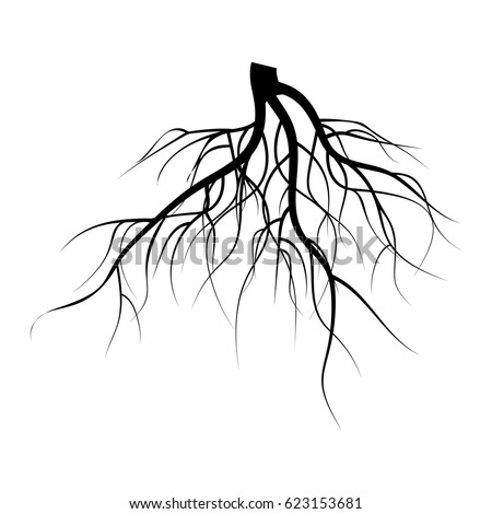 Young Plant Reborn On Tree Stub Stock Vector 165890858 ...