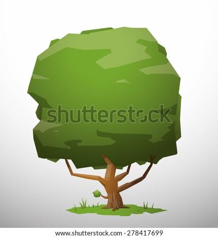 Tree, vector - stock vector
