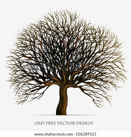 Tree vector silhouette illustration design - stock vector