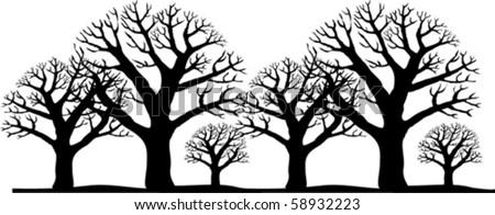 trees - stock vector