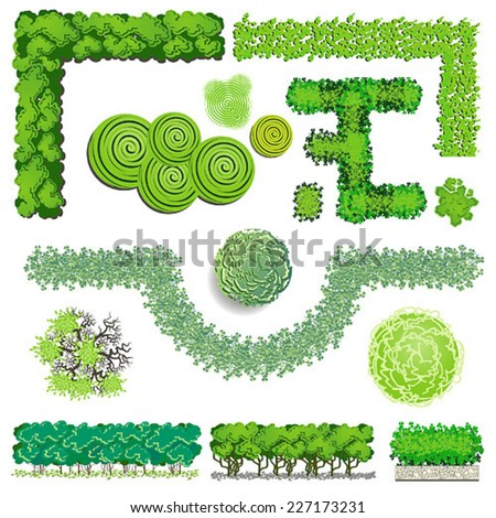 Hedge stock photos images pictures shutterstock for Landscape design icons