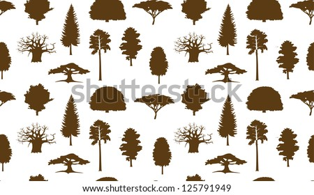 Trees pattern - stock vector