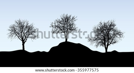 Trees vector background. - stock vector