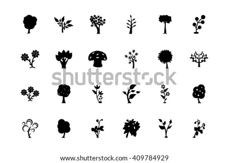 Trees Vector Icons 3  - stock vector