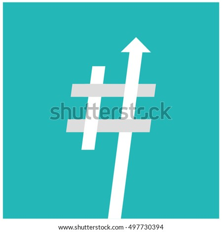 Trending hashtag art vector illustration flat stock vector for Hashtag architecture