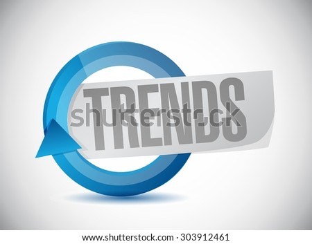 trends cycle sign concept illustration design over white - stock vector