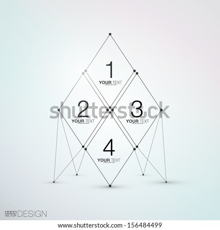 Trendy Abstract Design - stock vector