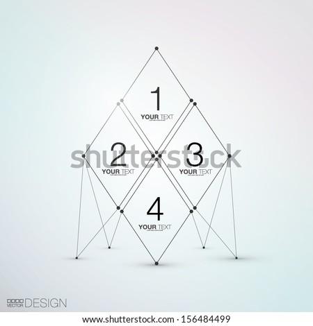 Trendy Abstract Design - stock vector