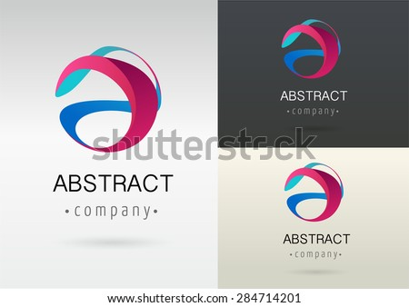 trendy abstract, vibrant and colorful icon, element - stock vector