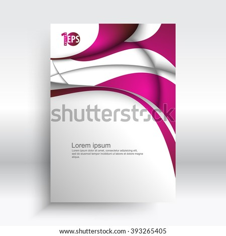trendy abstract wave elements corporate visual design. eps10 vector background - stock vector