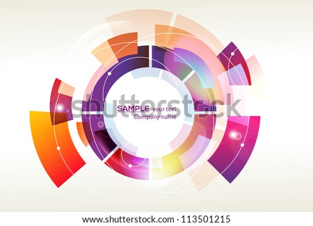 Trendy and stylish design - abstract background - original shape - stock vector