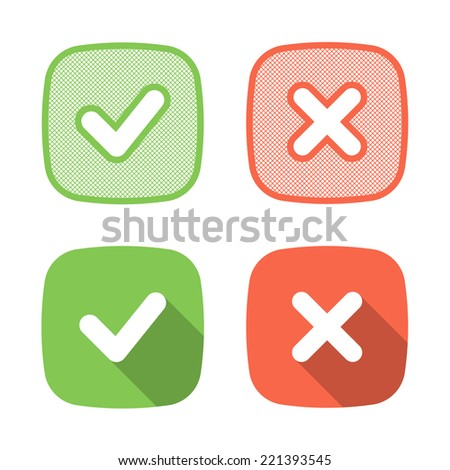 Trendy Check Mark icon for web or interface - stock vector