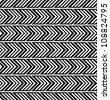 Trendy chevron patterned background black and white. - stock vector