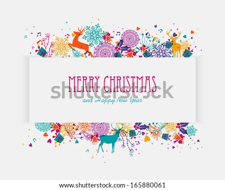 Trendy Christmas holiday colors splash elements banner. EPS10 vector file organized in layers for easy editing. - stock vector