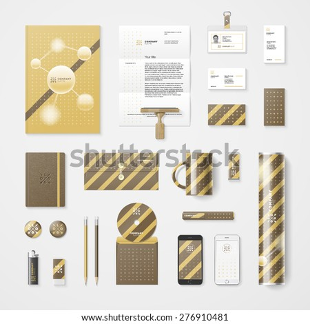 Trendy corporate identity template. High quality vector design element - stock vector