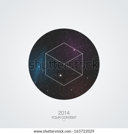 Trendy galaxy vector design - stock vector
