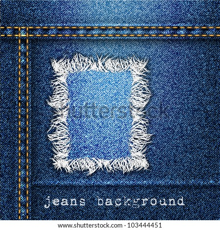 Trendy jeans background. Vector eps10 - stock vector