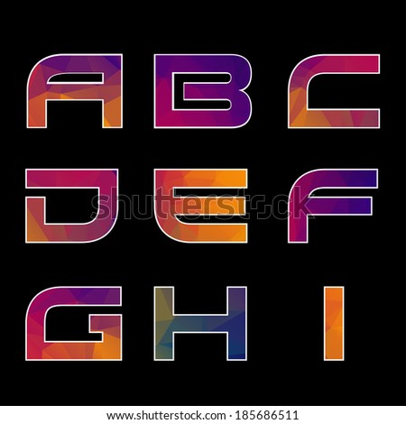 Trendy multicolored Geometric Alphabet. Vector Illustration. EPS - stock vector