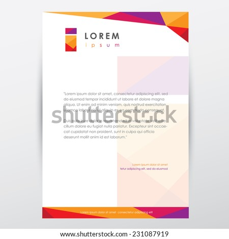 Multicolored letterhead document paper template trendy stock vector trendy multicolored letterhead design template for business presentations with letter i logo element spiritdancerdesigns Images