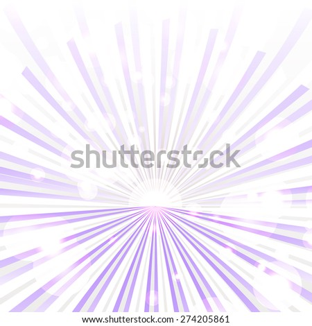 Trendy purple rays background with blurred effect. Illustration made in vector . - stock vector