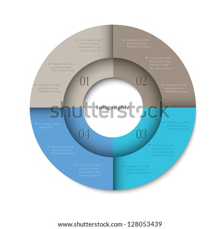Trendy round design template for infographics and website templates or design graphic for business. Vector EPS10 - stock vector
