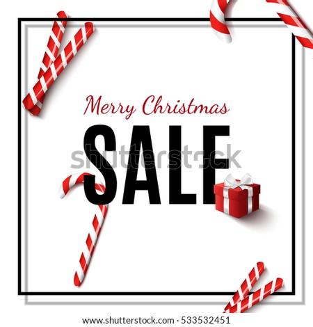 Trendy Sale Banner Design Beautiful Merry Stock Vector 533532451 ...