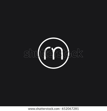 Trendy unique modern stylish connected geometric business brand black and  white color RM MR R M initial. Rm Stock Images  Royalty Free Images   Vectors   Shutterstock