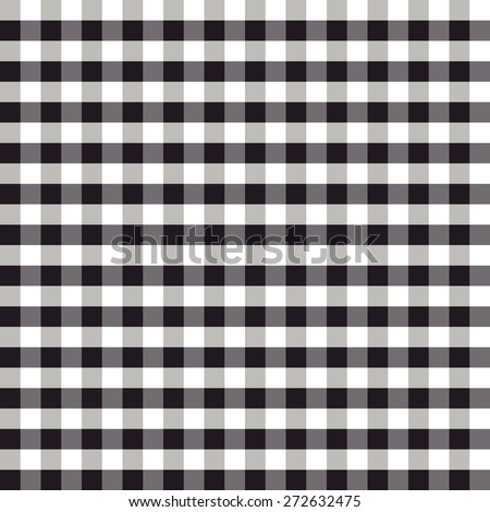 Trendy vichy pattern - checkered seamless background - stock vector