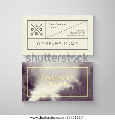 Trendy watercolor cross processing business card stock vector 2018 trendy watercolor cross processing business card template high quality design element reheart Image collections