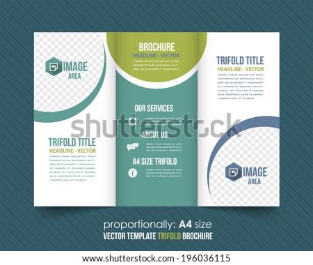 Tri-fold Brochure and Catalog Vector Design Template - stock vector