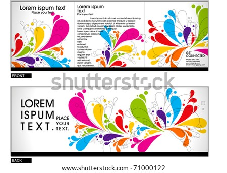 Tri fold brochure business cover design template. Vector Illustration - stock vector