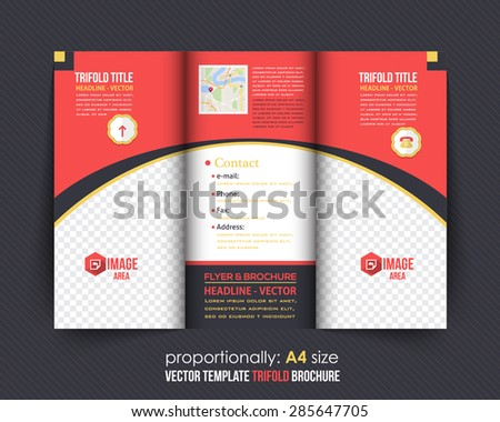 Tri-fold Brochure Design and Catalog Vector Concept Template  - stock vector