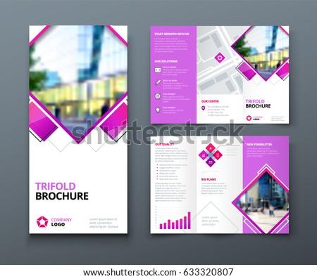 Tri Fold Brochure Design Corporate Business Stock Vector 633320807