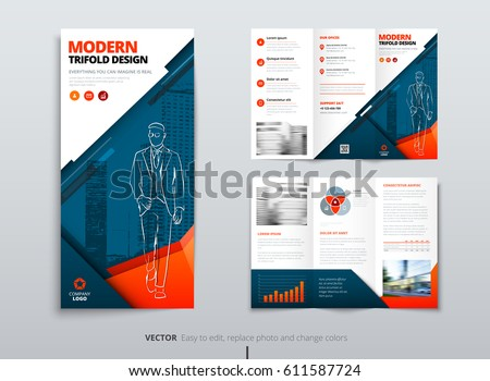 tri fold brochure design dl corporateのベクター画像素材 611587724