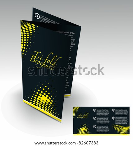 Tri-fold brochure design element, best used for your project. - stock vector