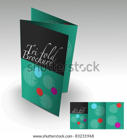 Tri-fold brochure design element, best used for your project element used. - stock vector