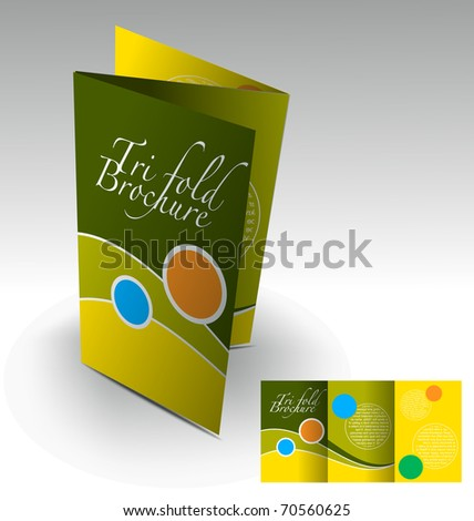 Tri-fold brochure design, vector illustration. - stock vector