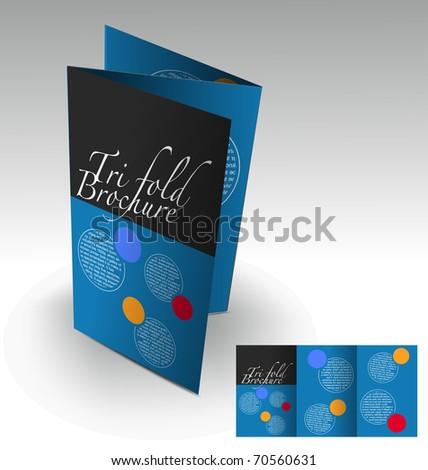 Tri-fold brochure design, vector illustration. - stock vector