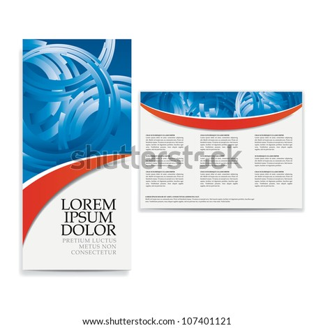 tri fold business brochure design - stock vector