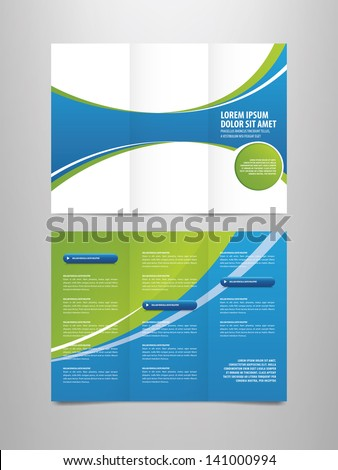 Tri Fold Business Brochure Template Stock Vector - Tri fold business brochure template