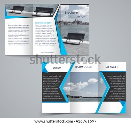 Trifold Business Brochure Template Twosided Template Stock Vector Hd